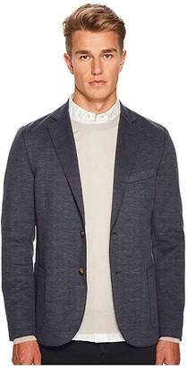 Eleventy Laser Cut Jersey Jacket (Denim) Men's Coat