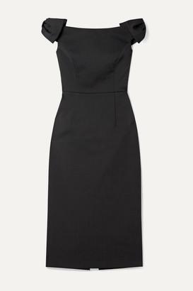 Rebecca Vallance Winslow Off-the-shoulder Cloque Midi Dress - Black