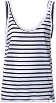 Bassike striped relaxed tank top - women - Organic Cotton - 14