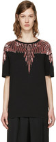 Marcelo Burlon County of Milan Black Embellished Sofia T-Shirt