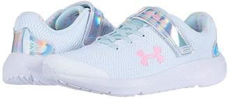 Under Armour Kids Pursuit 2 Prism (Little Kid) (White/Rift Blue/Pink Craze) Girls Shoes