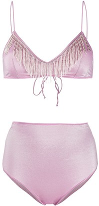 Oseree Bead-Embellished Bikini Set