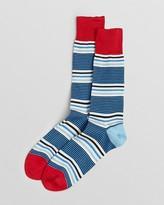 Paul Smith Ecru Stripe Socks