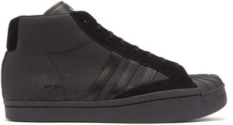Y-3 Pro High-top Leather Trainers - Black