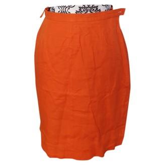 Escada Orange Linen Skirt for Women Vintage