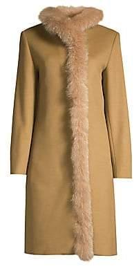 Cinzia Rocca Women's Fox Fur Lined Wool Coat