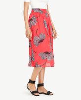 Ann Taylor Petite Floral Midi Skirt