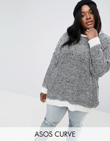 Asos Oversized Sweater In Twisted Yarn