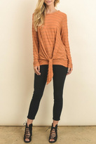 Le Lis Orange Tie Top