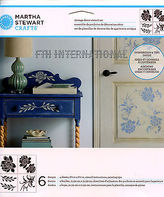 Martha Stewart Blossom Vintage Decor Stencil Set 33558, Flowers Leaves Roses