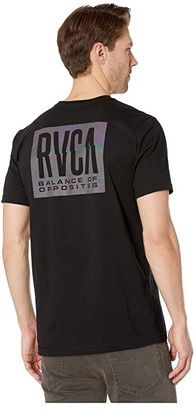 RVCA Hazed Short Sleeve Tee (Black) Men's Clothing