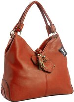 Big Handbag Shop Womens Braided Two Handle Tassel Effect Hobo Shoulder Bag