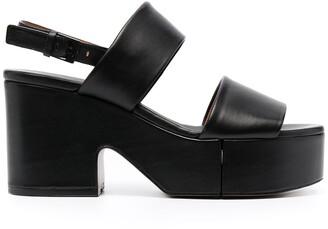 Clergerie Cora platform leather sandals