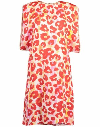 Marni Poppy Red Floral Print Dress
