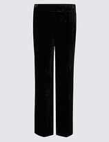 M&S Collection Velvet Wide Leg Trousers