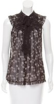 Anna Sui Sleeveless Print Top