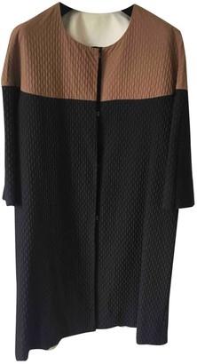 Liviana Conti Black Cotton Coat for Women