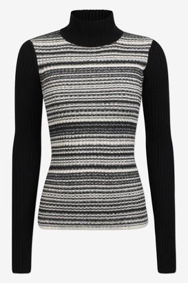 Baum und Pferdgarten Camille Blackwhite Melange Jumper - Sz S | cotton | black | White - Black/Black