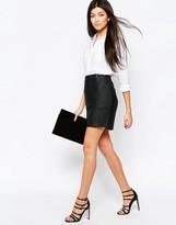 Ichi Short Skirt With Zip Detail