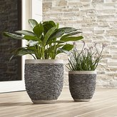Crate & Barrel Stacked Rock Planters