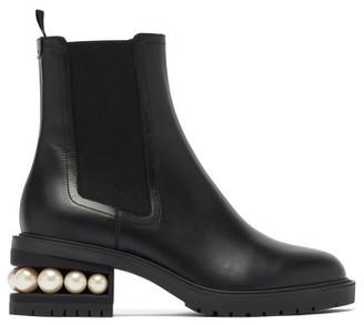 Nicholas Kirkwood Casati Faux-pearl Heel Leather Chelsea Boots - Black