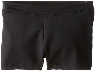 Capezio Team Basic Boycut Low Rise Shorts (Little Kids/Big Kids) (Black) Girl's Shorts