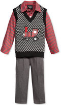 Nautica 3-Pc. Train Sweater Vest, Shirt & Pants Set, Baby Boys (0-24 months)