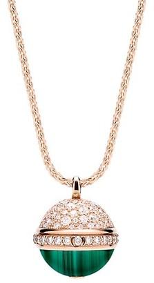 Piaget Possession 18K Rose Gold, Diamonds & Malachite Pendant Necklace