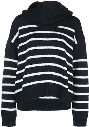Monse Donut Oversized Striped Turtleneck Sweater