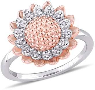 Laura Ashley English Garden Sterling Silver Diamond Ring