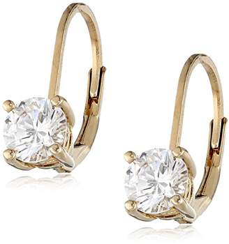 Swarovski Rose Gold Plated Sterling Silver Lever back Earrings set with Round Zirconia (3 cttw)