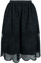 Marc by Marc Jacobs broderie anglaise scalloped skirt