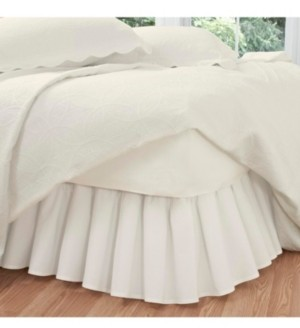 Fresh Ideas Ruffled Poplin Queen Bed Skirt Bedding