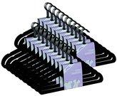 JVL Black 50 pack thin velvet space saving non-slip coat hangers