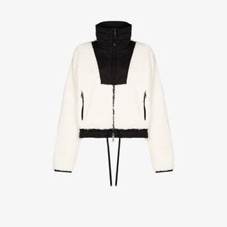 Moncler Maglia faux shearling cropped jacket