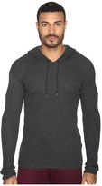 John Varvatos Waffle Stitch Long Sleeve Drop Shoulder Pullover Hoodie Sweater Y1471S4B