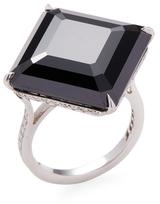 Paolo Costagli Emerald Cut Spinel, Platinum & Diamond 11 O'clock Ring