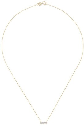 Sylvie Dana Rebecca Designs 14kt gold Rose diamond bar necklace