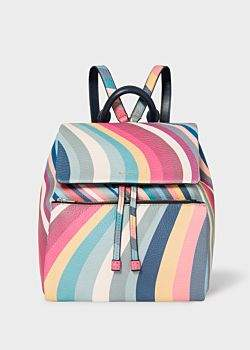 Paul Smith Women's 'Spring Swirl' Print Leather Backpack