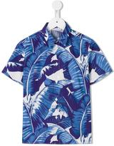 Dolce & Gabbana banana leaf print shirt - kids - Cotton - 2 yrs