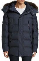 Andrew Marc Fur Trim Hooded Jacket