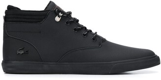 Lacoste canvas-trimmed ankle boots