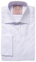 Thomas Pink Rocher Stripe Slim Fit Dress Shirt