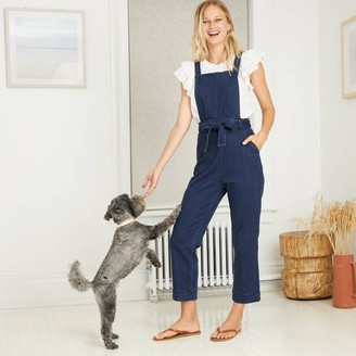 Universal Thread Women's Tie-Front Denim Overalls - Universal Thread͐ Medium Blue