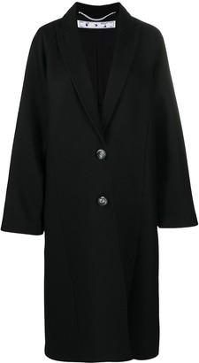 Off-White Oversized Single-Breasted Coat