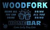 AdvPro Name q48973-b WOODFORK Family Name Home Bar Beer Mug Cheers Neon Light Sign