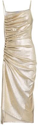 Paco Rabanne Embellished lame midi dress