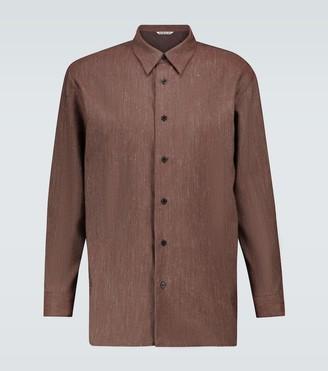 AURALEE Wool and linen twill shirt