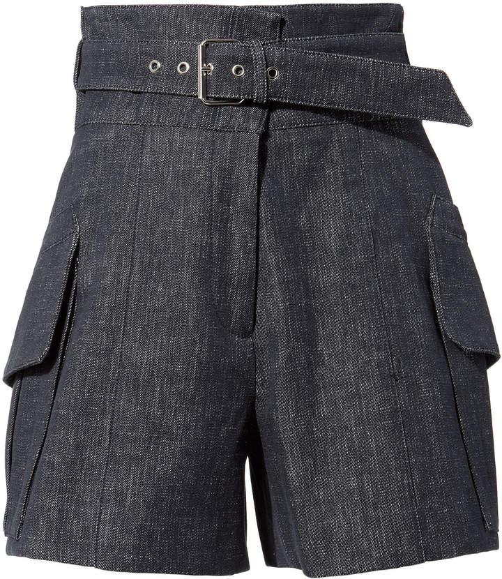 Derek Lam Indigo Belted Shorts