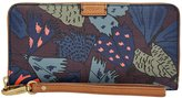Fossil Emma Moth-Print Large Zip Clutch